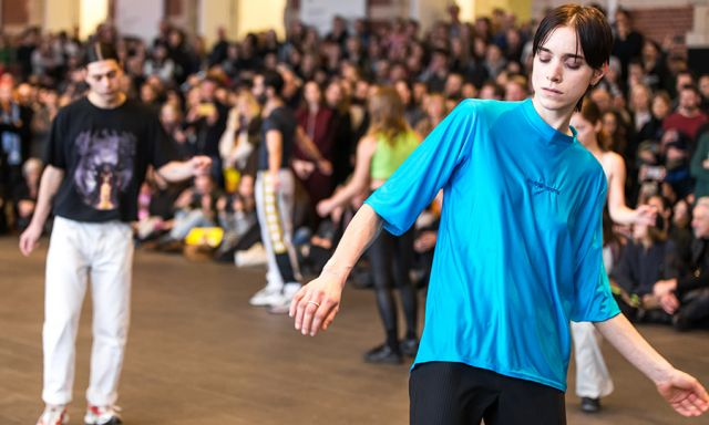 77e26548a714 Slowly but surely the pace of Michele Rizzo s Higher.xtn (2018) picks up.  Even as they begin striding boldly across the stage and swapping positions